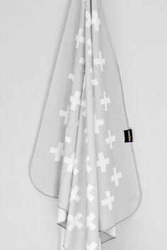 Grey Plus Swaddle Blanket