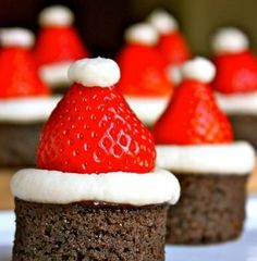 Santa's Hat Brownie