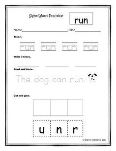 Sight Word Practice Bundle or get in sets 1, 2, or 3 - 78 sight words - $