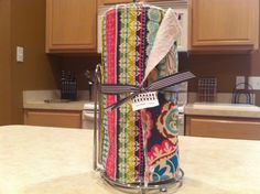 Saw this on Etsy - love the reusable paper towel roll! Such a great idea!