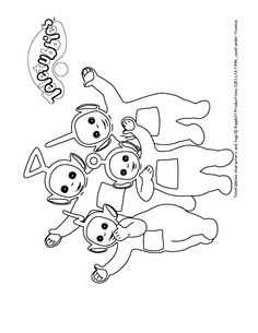Teletubbies colour-in