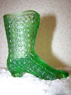 Fenton Daisy and Button boot by selectedantiques on Etsy, $32.00