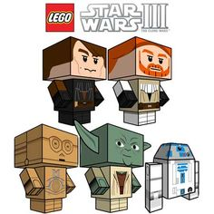Lego Star Wars Papercraft Cubee Clone Wars Series