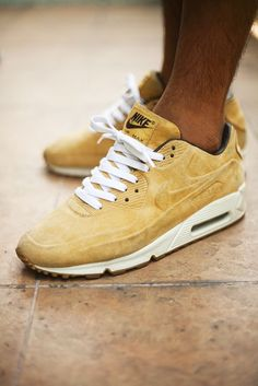 .Yellow suede Nike Air Max