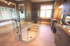 tubs should be sunken. and love the idea of combining with the shower.