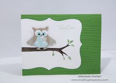Stampin' Up! Owl Punch by Amanda at Krafting Kreations: Take Care owl punch, owl card, care owl