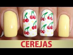 Unhas Decoradas de Cerejas - YouTube