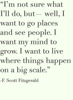 We couldn't agree more with F. Scott Fitzgerald!