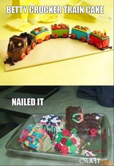 lol! nail, birthday parties, train cakes, birthdays, funni, cake recip, 2nd birthday, trains, birthday cakes