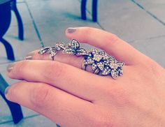 Floral armor ring