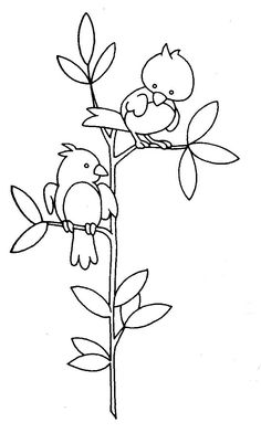 Bird Printable Coloring Page.  Made a quilt block. Very cute co3/14