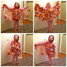 Owl Costume for Halloween  These wings could work as dragon wings :)