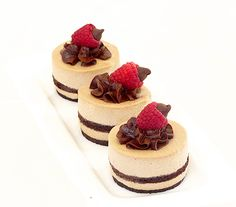White-Chocolate-Mocha-Mousse-Cake: Easy elegance kicked up with a shot of espresso and smoothed out with some white chocolate. Layer this mocha mousse between two sheets of chocolate sponge cake and it will tempt even the most steadfast dieter