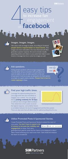 #Infographic: Four tips for more #Facebook engagement via #socialmedia #digitalmarketing