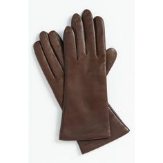 Fownes Brothers 'basic Tech' Cashmere Lined Leather Gloves ($69) found on Polyvore