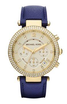 Michael Kors 'Parker' Chronograph Leather Watch, 39mm. My Dream <3