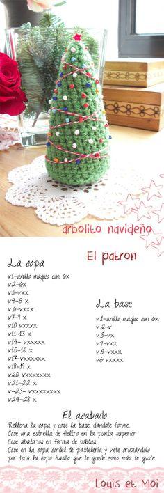 Louis et Moi (cosen y hacen crochet): Patrón de árbol de Navidad de amigurumi #pattern #diagram #amigurumi #xmas