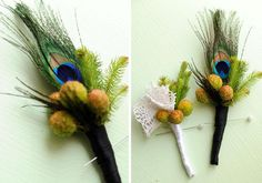 DIY Tutorial: DIY  DOILY CRAFTS / DIY PROJECT: Vintage doily & peacock feather boutonnieres - Bead&Cord