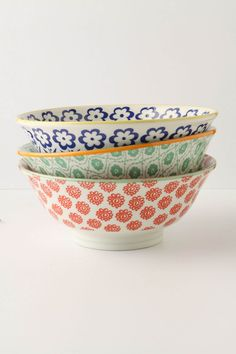 Anthropologie  I love these bowls