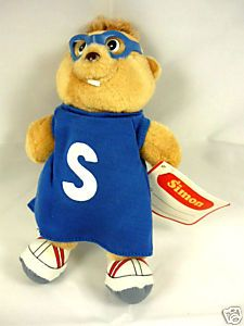 Alvin & The Chipmunks Simon plush toy. Made for Burger King in 80s.
