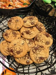 chocolate chips, spider night, oven, spider leg, chocol chip, chip cooki, coconut oil