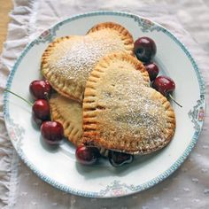 Sweetheart Cherry Pies by cakestudent #Pies #Cherry