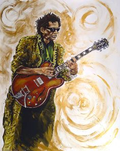 Keith Richards painted by Ronnie Wood.