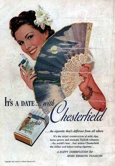 Chesterfield Cigarettes 1939 lovely fan