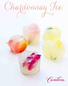 floral wine ice - this is a gorgeous way to chill your drinks