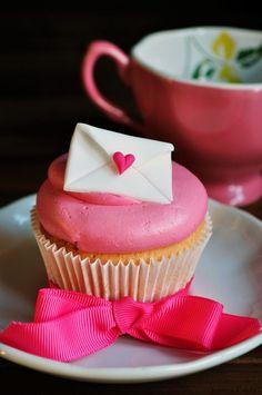 Love Letter Cupcake