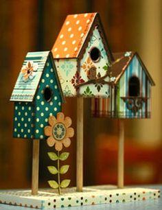 decor, birdhouses, recycl craft, bird housefeed, feather friend, birdhous kit, boutiqu idea, craft idea, birdhous idea