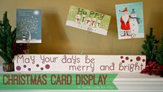 Make your own glittered Christmas Card Display with A Turtle's Life for Me