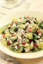 Diabetic Friendly Chopped Greek Salad with Chicken