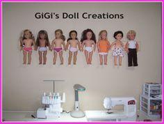 GiGi's Doll Creations: Custom handmade wall hanger for storing dolls when not in use. Written tutorial