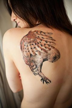 the color...Owl Tattoo by Dan Walker