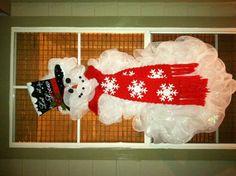 Snowman Deco Mesh Wreath...different and super cute!
