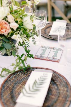Spanish tile table numbers  Photography by erinheartscourt.com, Wedding Design, Coordination and Floral Design by bashplease.com