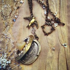 Tooth Fairy locket and Swallow by gigideluxe on Etsy, $70.00