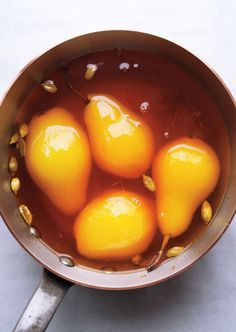 Poached Pears with C...