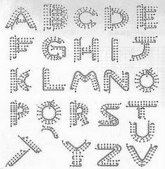 Crochet Letters Pattern march 2009, crochet applique letters, chart, crochetknit idea, crafti idea, yarn, crochet pattern, crochet letters pattern, letter pattern