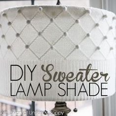 Wow wow wow. So simple so stunning. DIY Lampshade Tutorial using a Sweater lampshad tutori, lampshades, lamp shade, diy lampshade, diy sweater, diy decor tutorial, light, sweater lampshade, crafti diy