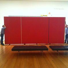 Deinstallation of Barnett Newman's Vir Heroicus Sublimis at MOMA