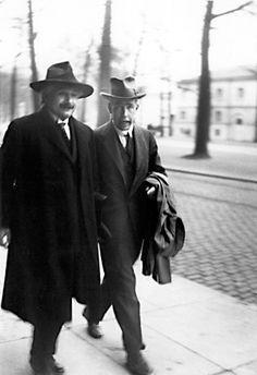 Albert Einstein & Niels Bohr, Danish Scientists.