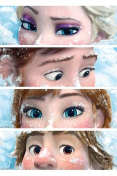 Frozen eyes -- Elsa, Hans, Anna, Kristoff