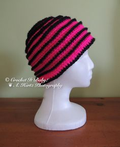 Crochet Neon Swirl Hat Sizes 0 to Adult  PATTERN by CrochetItBaby, $4.00