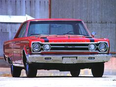 1967 Plymouth Belvedere GTX 426 Hemi Hardtop Red Front by GIZZMOO.com, via Flickr