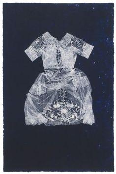 The Great Memory. Valerie Hammond. Photolitho/Relief on handmade paper. #art #dress #printmaking
