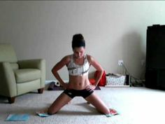 OMG.........Thigh Blasters (Inner Thigh Toning Exercise) 1. Rip the front and back covers off an old magazine  2. Kneel on the floor and put one magazine cover under each knee  3.Maintaining an upright position, push your knees outwards as far as you can (about 1 - 1.5 feet apart), pause for a few seconds, and then use your inner thigh muscles (adductors) to bring your legs back together....