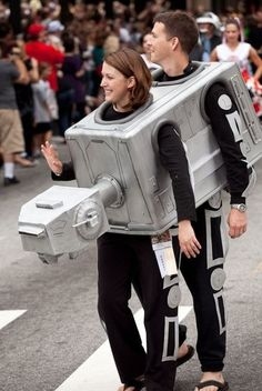 AT-AT couples costume.