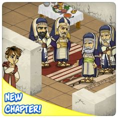 LIKE and SHARE if you LOVE serving JESUS!  Play Now!    Up To No Good!    The Pharisees are holding a secret meeting!   Who is it about? What do they have up their sleeves? What are they conspiring about this time?   Journey to Jerusalem and find out in the New Maps!